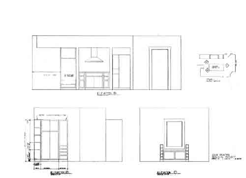 Elevations of kitchen